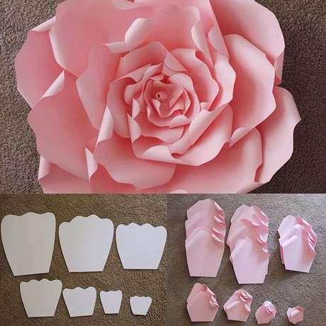 6. Com o nosso passo a passo, você já sabe como fazer flor de papel gigante