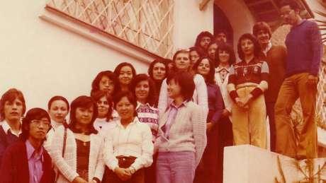 Primeira turma de formados no curso de Ciência da Computação do IME-USP, em 1974, na qual as mulheres eram a maioria