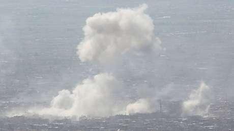 Douma foi bombardeada no último sábado