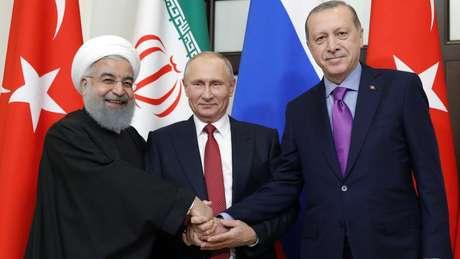 Irã, Rússia e Turquia têm interesses diferentes na Síria