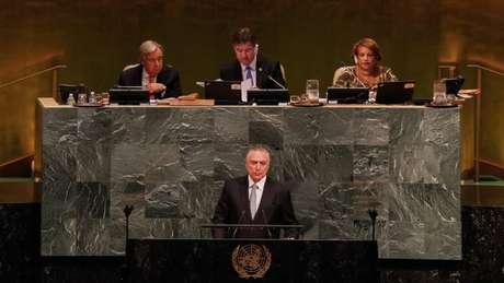 O presidente Michel Temer