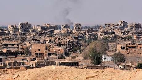 Muitas cidades sírias estão completamente devastadas desde início do conflito, em 2011