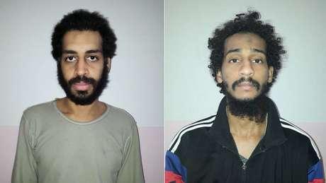 Alexanda Kotey (à esq) e El Shafee Elsheikh são acusados pela decapitação de jornalista americano; seu destino ainda é incerto