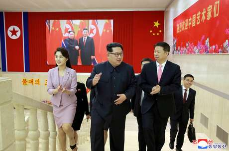 Kim Jong-un e Song Tao, líder do Partido Comunista da China