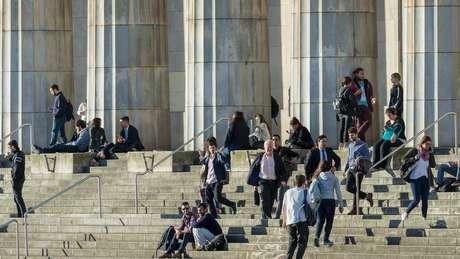 Estudantes na Universidade de Buenos Aires, que tem 4% de estrangeiros, principalmente brasileiros