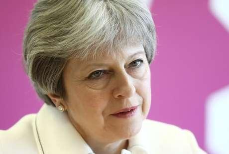 Theresa May, durante reunião da Commonwealth, em Londres 16/4/2018 REUTERS/Simon Dawson/Pool