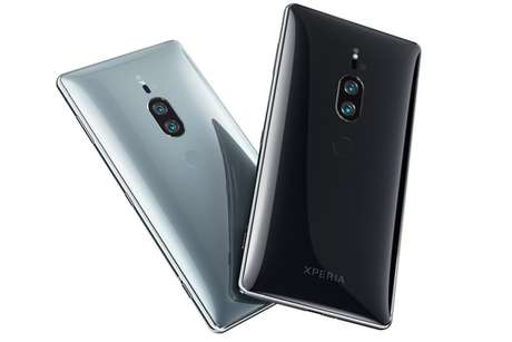 Xperia XZ2 Premium chega em duas opções de cores: prateada e preta (Imagem: Divulgação/Sony)