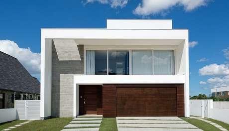 Platibanda o que 40 modelos de casas para se inspirar for Modelos de casa estilo minimalista