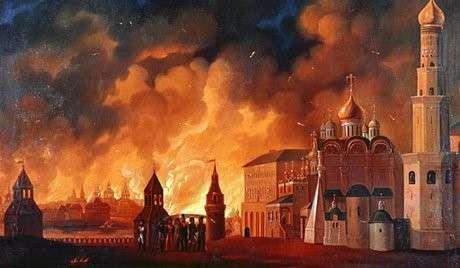O incêndio de Moscou (1812)