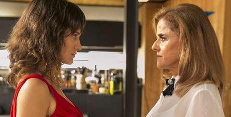 A mocinha Clara (Bianca Bin) e a vilã Sophia (Marieta Severo): melhor audiência desde 2012.