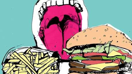 Ilustração de comida