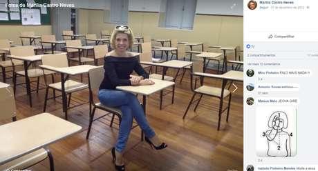 Desembargadora Marília Castro Neves, que questionou a capacidade da professora, responde a cinco processos no CNJ por postagens na internet