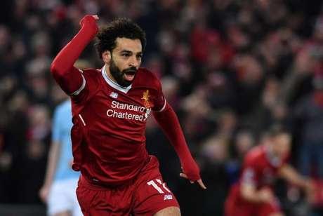 Salah tem 30 gols no Campeonato Inglês (Foto: ANTHONY DEVLIN / AFP)