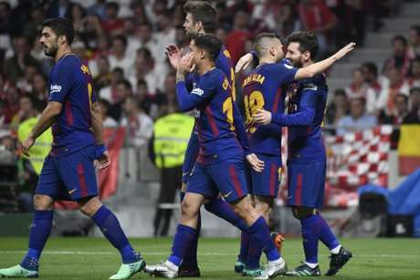Barcelona conquistou a Copa do Rei com baile sobre o Sevilla (Foto: PIERRE-PHILIPPE MARCOU / AFP)