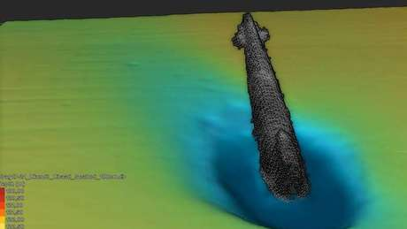 Os restos do submarino foram encontrados no Estreito de Escagerraque, na Dinamarca