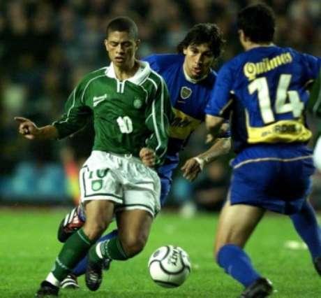 Palmeiras 2x2 Boca Juniors : jogo de ida da semi de 2001