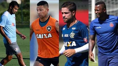 LUCAS MERÇON / FLUMINENSE F.C , Vitor Silva/SSPress/Botafogo , Gilvan de Souza / Flamengo e Carlos Gregório Jr/Vasco.com.br