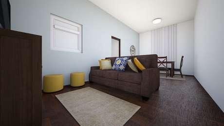 5. O puff para sala pequena é excelente para otimizar o espaço