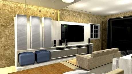 20. Modelo simples de puff para sala de estar