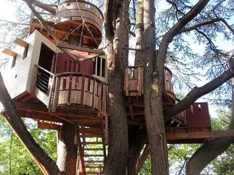 15. Casa da árvore de madeira