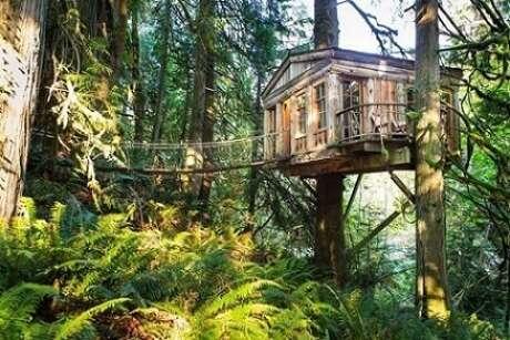 31. Casa na árvore com sacada aberta