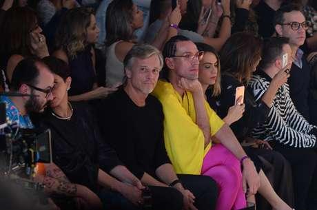 Marcelo Cerrado e Dudu Bertholini na plateia (Fotos: Francisco Cepeda/AgNews)