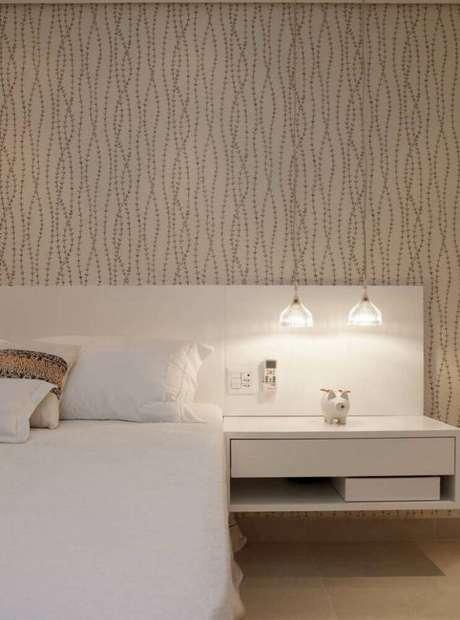 38. Modelo de papel de parede para quarto de casal