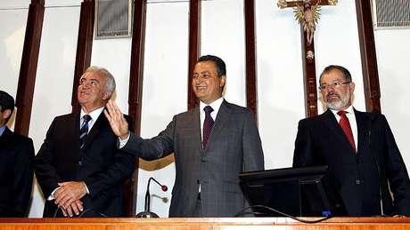Governador Rui Costa (centro) deve ser candidato a reeleição nas eleições 2018