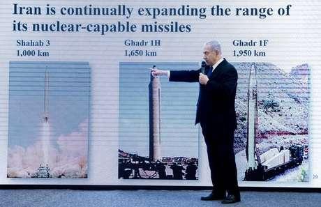 Netanyahu apresenta denúncias sobre programa nuclear do Irã