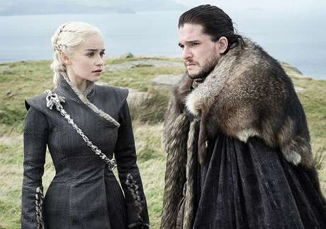 Daenerys e Jon Snow, em Game of Thrones