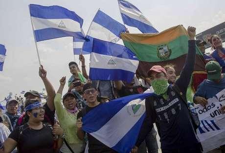 Manifestação de estudantes contra repressão na Nicarágua