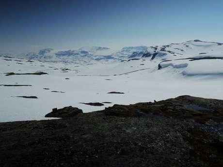 Hardangerjøkulen, na Noruega