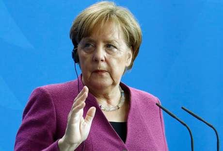 Chanceler alemã, Angela Merkel 25/04/2018 REUTERS/Fabrizio Bensch