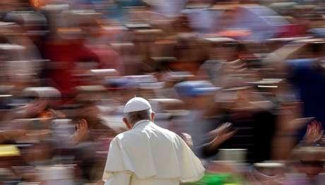 Papa Francisco em cerimônia aberta de quarta-feira no Vaticano 25/04/2018 REUTERS/Max Rossi