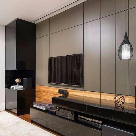 Sala De Tv Moderna Y Sofisticada.40 Modelos De Painel De Tv Para Sala