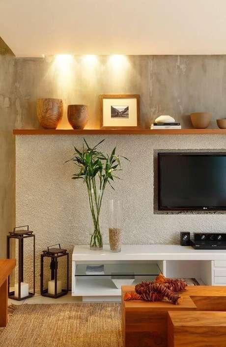 +40 Modelos de Painel de TV para Sala -> Decoração Para Sala De Tv Com Painel