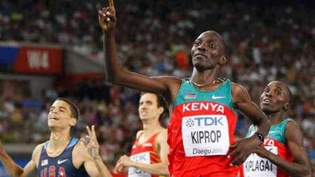Campeão olímpico nos 1.500m nos Jogos de Pequim, Asbel Kiprop foi flagrado com EPO (Reprodução)