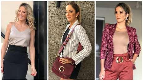 Tici Pinheiro com três looks para trabalhar (Fotos: Reprodução/Instagram/@ticipinheiro)