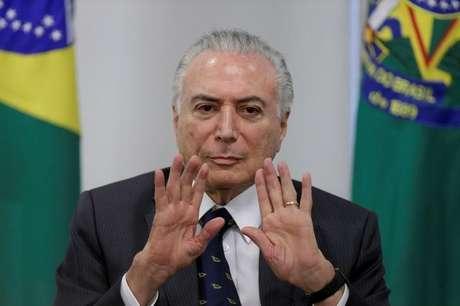 Presidente Michel Temer no Palácio do Planalto 15/03/2018 REUTERS/Ueslei Marcelino