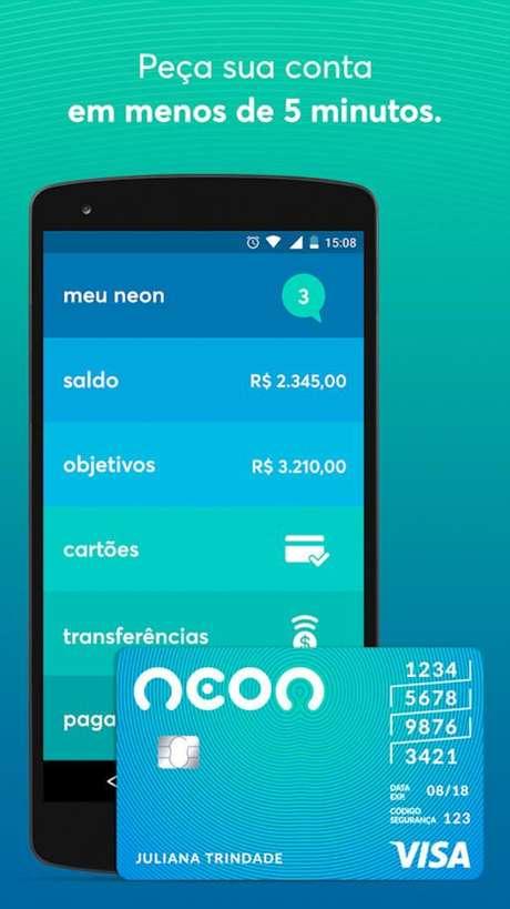 O Banco Neon era conhecido por suas contas correntes digitais (Imagem: Divulgação / Banco Neon)
