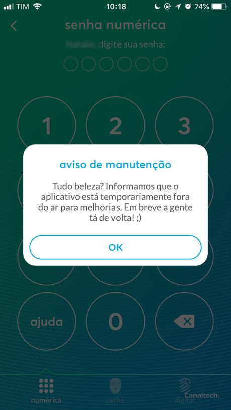 App indisponível (Captura de Tela: Natalie Rosa / Canaltech)