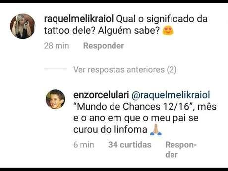 Enzo Celulari Faz Tatuagem Em Homenagem Ao Pai Edson