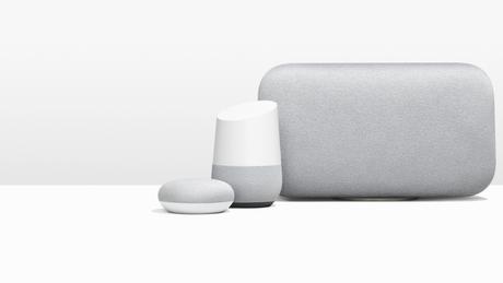 Os três integrantes da família Google Home
