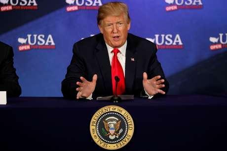Trump faz discurso em Cleveland  5/5/2018    REUTERS/Aaron P. Bernstein