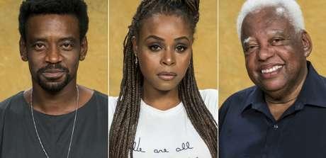 Fabrício Boliveira, Roberta Rodrigues e João Acaiabe estão entre os poucos negros do elenco de 'Segundo Sol'.