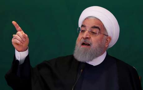 Presidente do Irã, Hassan Rouhani, discursa em encontro na Índia 15/02/2018 REUTERS/Danish Siddiqui