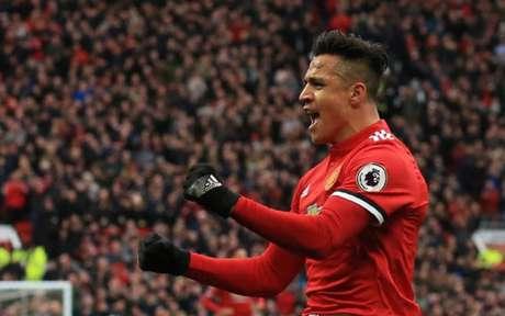 Sánchez está em seus primeiros meses no Manchester United (Foto: Lindsey Parnaby / AFP)
