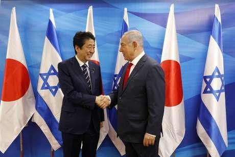 Japanese Prime Minister Shinzo Abe in Israel