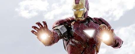 Traje do Homem de Ferro no filme de 2008.
