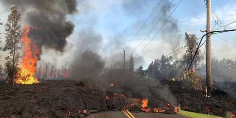 Lava de vulcão Kilauea no Hawai 09/05/2018 REUTERS/Christiane Chan